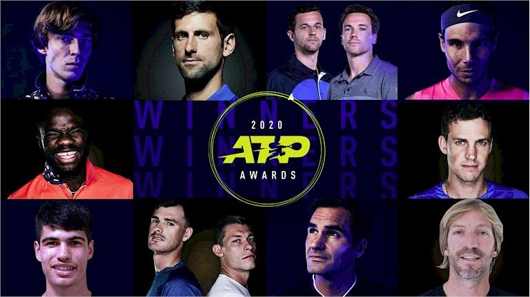 ATP Awards 2020 (divulgação ATP Tour)