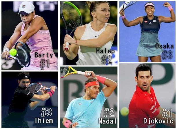 Top 3 WTA / ATP
