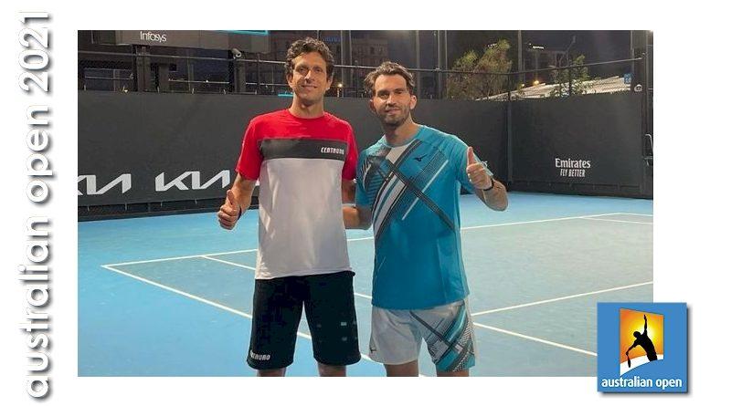 Marcelo Melo (esquerda) e Horia Tecau (reprodução Facebook)