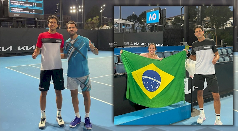 Marcelo Melo (a esquerda e no destaque) e Horia Tecau