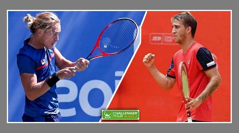 Rafel Matos (esquerda) e Felipe Meligeni - ATP Challenger Tour - Antalya