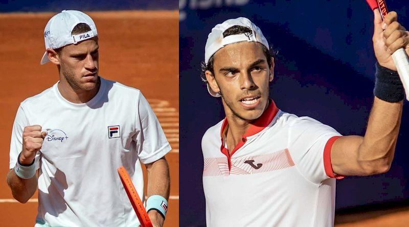 Diego Schwartzman (esq) e Francisco Cerúndolo (divulgação ATP Tour)