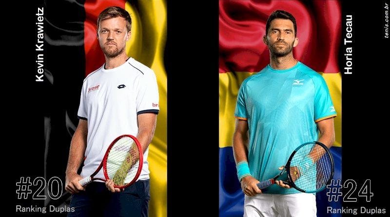Kevin Krawietz (esq) e Horia Tecau (montagem tenis.com.br)