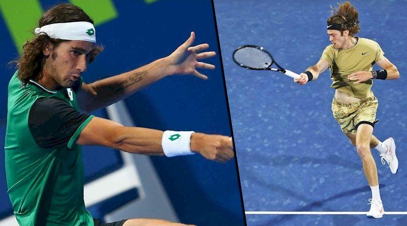 Lloyd Harris (esq) e Andrey Rublev (divulgação ATP Tour)