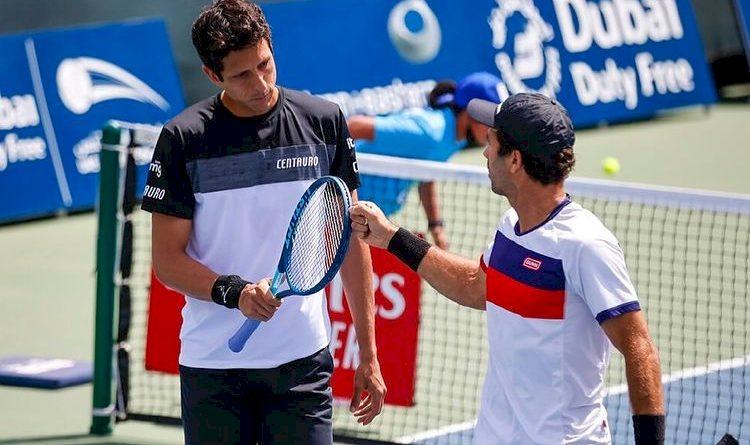 Marcelo Melo (esquerda) e Jean-Julien Rojer (reprodução Instagram)