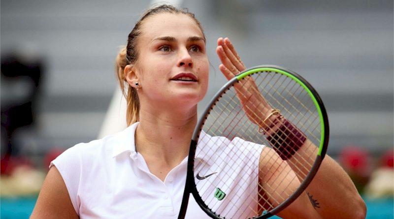 Aryna Sabalenka (divulgação Mutua Madrid Open)