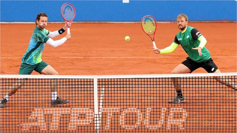Wesley Koolhof(esq) e Kevin Krawietz (divulgação ATP Tour)