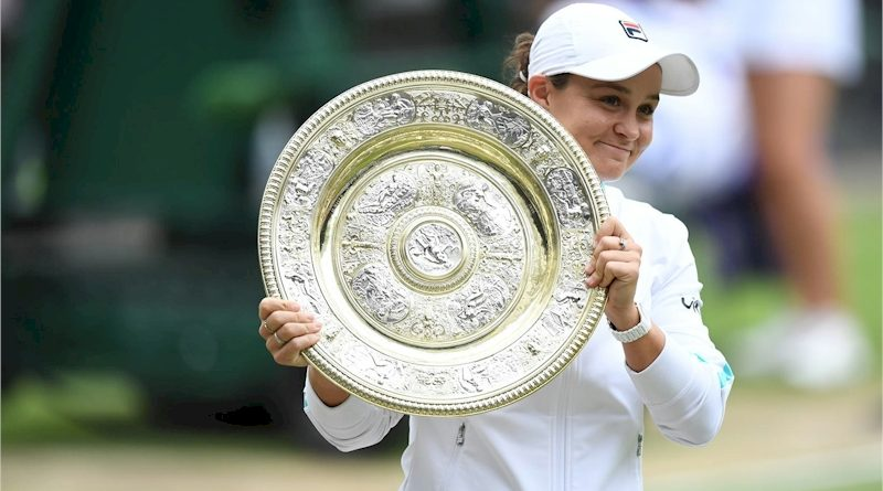 Ashleigh Barty (divulgação Wimbledon)