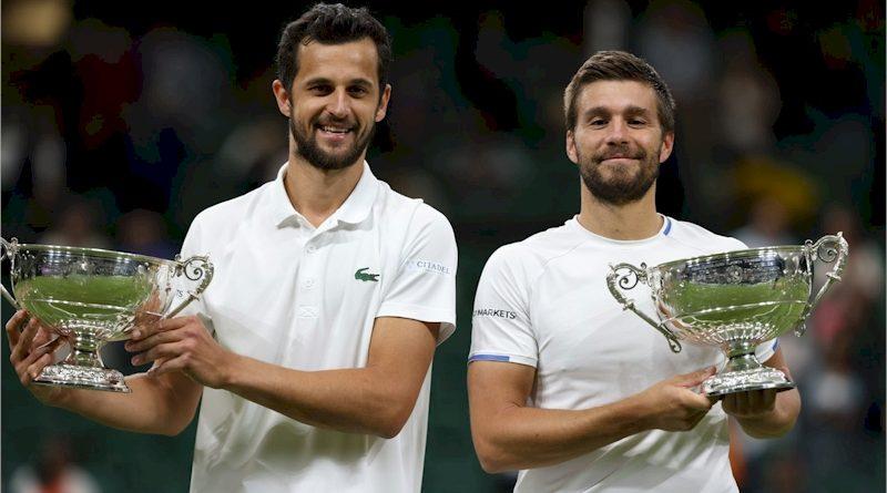 Mate Pavic (esq) e Nikola Mektic (divulgação Wimbledon)