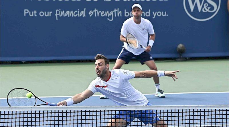 Marcel Granollers (frente) e Horacio Zeballos (divulgação ATP Tour)