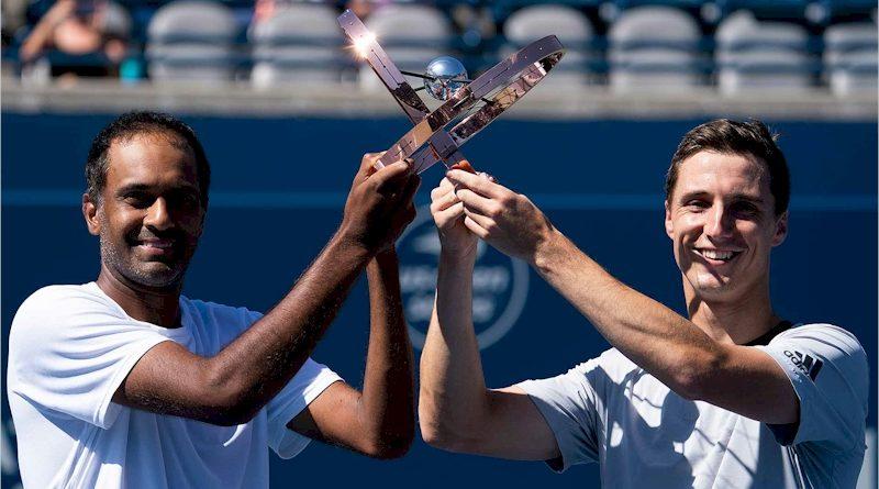 Rajeev Ram (esq) e Joe Salisbury (divulgação ATP Tour)