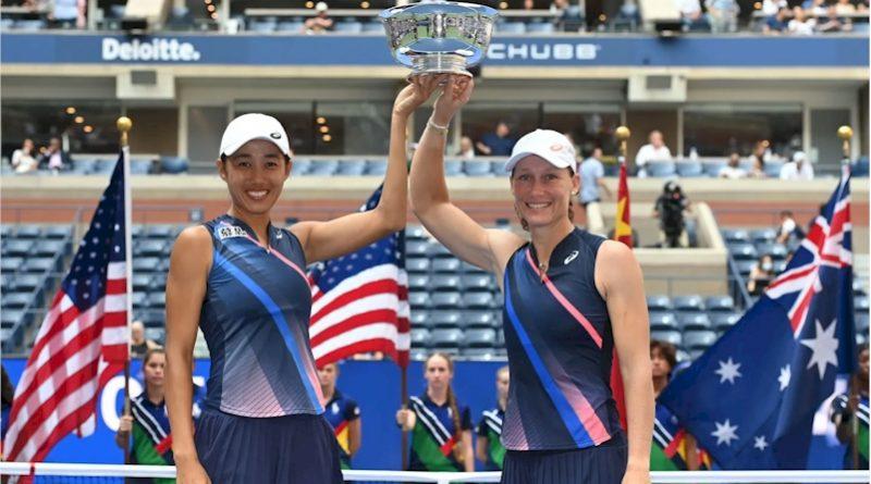 Shuai Zhang (esq) e Samantha Stosur (divulgação WTA Tennis)